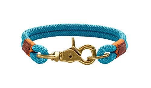 HUNTER Oss Halsung für Hunde, Tau, fellschonend, maritim, nautisch, 40 (S-M), petrol