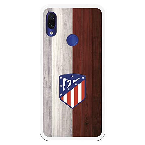 Funda para Xiaomi Redmi Note 7-Note 7 Pro Oficial del Atlético de Madrid Madera para Proteger tu móvil. Carcasa para Xiaomi de Silicona Flexible con Licencia Oficial de Atlético de Madrid.