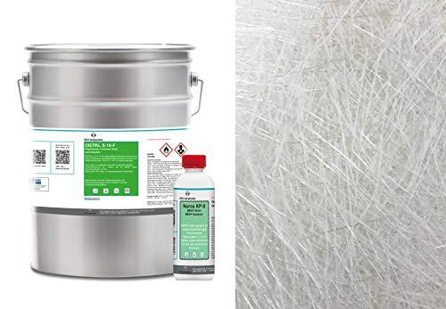 5kg GFK Polyesterharz + 4m² Glasfasermatte 450g/m²