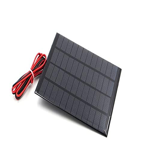 Mini Panel Solar 6V 3W 9V 3W 12V 3W Panel Solar con Cargador de batería Solar Min (Color : 12V 3W Solar Panel)