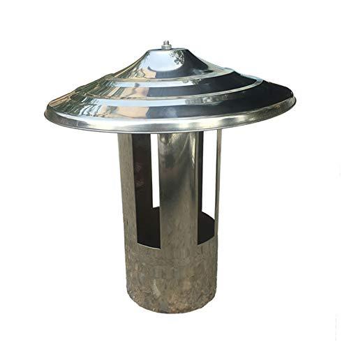 LXLTL Chimney Pot Cap Stainless Steel Chimney Cowl Roof Chimney Flue Cowl Pipe Rain Cover Protector Cap Ending Heating Stove Exhaust Pipe Chimney Rain Cap,11.4cm
