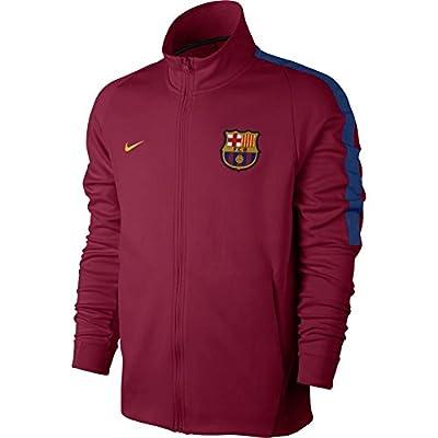 Nike FC Barcelona Soccer Franchise Jacket (X-Large) Noble Red