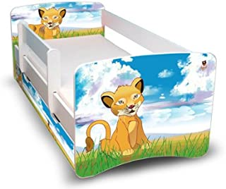 Best For Kids Children s Bed 90x160 with Defeat Protection Drawer Designs  Lion
