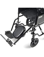 Drive Medical ELR002L - Reposapiés para silla de rueda, color negro