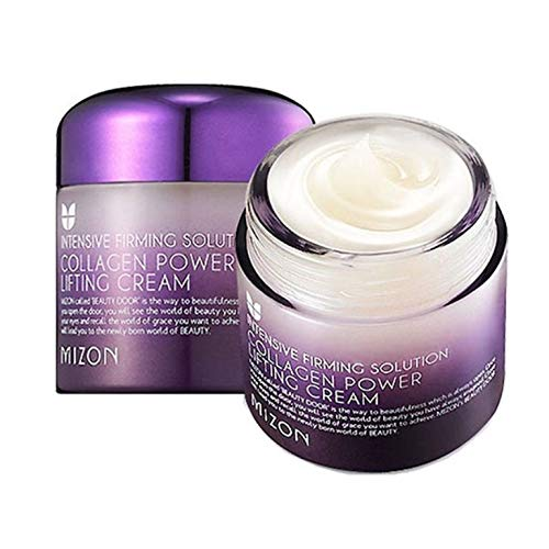 Collagen Power Lifting Cream, Collagen Face Moisturizer by Mizon, Day and Night Cream, Anti-Aging Facial Cream to Smooth Wrinkles, Non-Greasy and Non-sticky Formula, Lifting and Tightening, Natural