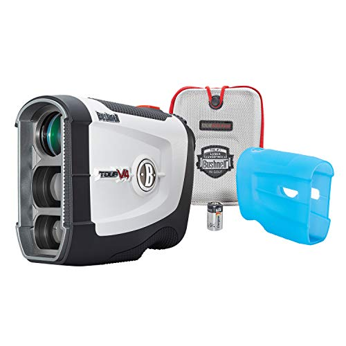 Bushnell Tour V4 JOLT Golf Laser Rangefinder, Patriot Pack Version, Protective...