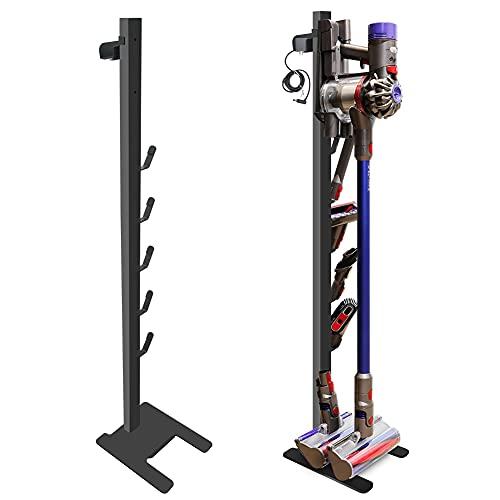 DoubleBlack Soporte para Aspirador Vertical Apto para Dyson V7/V8/V10/V11 y Accesorios Negro