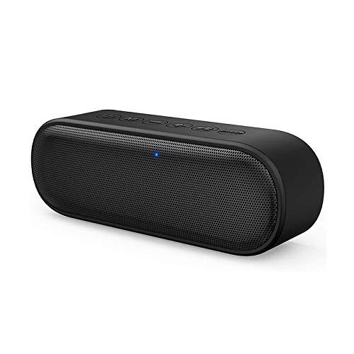 QAZW Altavoz Portati Inalambrico-Altavoz Bluetooth Ducha HD Microfono Manos Libres-Radios de Ducha a Prueba de Agua Manos Libre, Microfono,Black