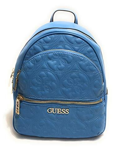 Guess Borsa zaino Manhattan backpack ecopelle trapuntato blu donna