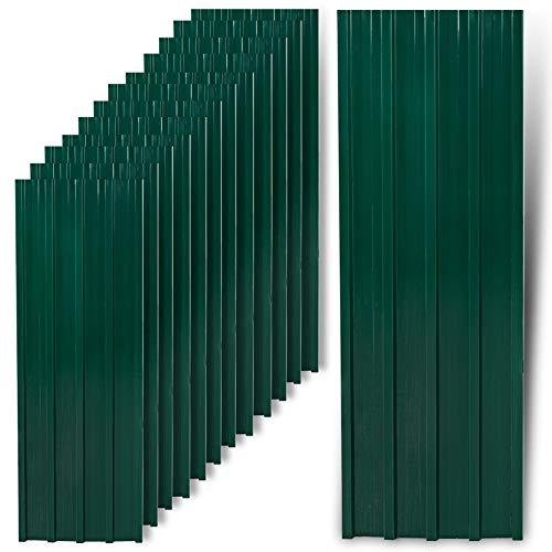 IHD Trapezblech Profilblech Metallblech 12 Stück Dachblech Stahlblech Grün