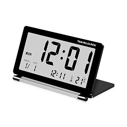 XINGRUI Wecker AQ-141 Elektronischer Wecker Reisewecker Multifunktions-LCD-Großbild-Klapp-Tischuhr, Gelegentliche Farblieferung