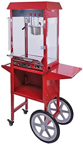 MUMUMI Karren Popcorn Maker Popcorn Hine 8 Unzen Große Kommerzielle Popcorn-Maschine Mit Passender Wagen