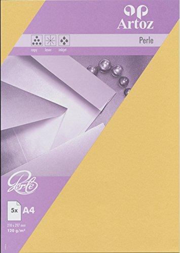 Artoz Papier AG - Perle Papier A4 5er-Pack gold