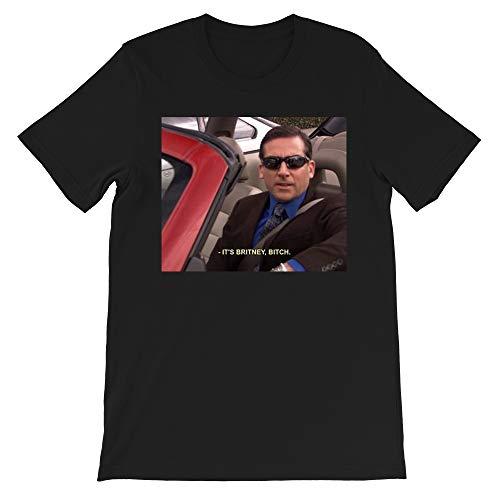 It's Britney Bitch Michael Scott Fun The Office TV Show Funny Gift for Men Women Girls Unisex T-Shirt Sweatshirt (Black-L)