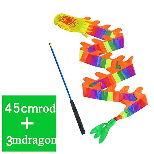 GUIOB Diabolodrache Fitnessdrachengürtel,Multi-Colored-3