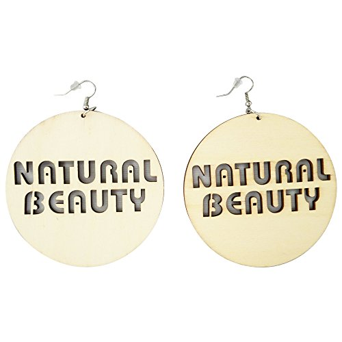 Natural Beauty Earrings/Natural Hair/African American Woman Earring/Wood Jewelry