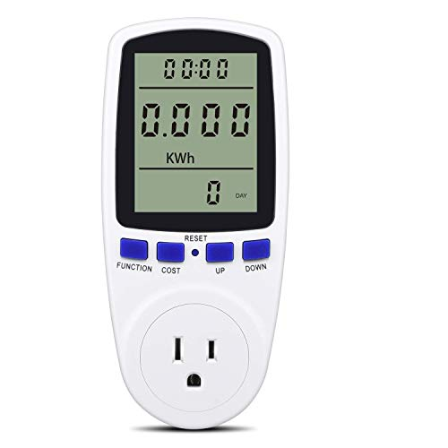 Digital Power Monitor Meter Usage Saving Energy Watt Amp Volt KWh Electricity Analyzer Monitoring Device Equipment System Wall Socket Outlet