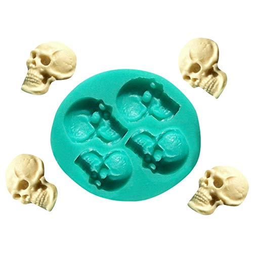 Kitchen & Dining, iuuhome Skull and Skull Fondant Cake Mould Skull Head Silicone Fondant Cake Mould Chocolate Mold Halloween Party Exquisite