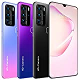 P80 Pro 4G / 5G Android Smartphone 7.1'Water-Drop Screen Unicom Releases Memory 12gb + 512gb Chip mtk6889m 10core Android 10 Batería 5600mAh Cámara 32MP+48MP (Negro)