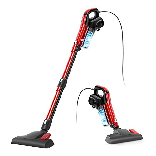 Vacuum Cleaner, 4 in 1 Corded Stick Vacuum 17000pa Powerful Suction, with HEPA Filter 1.2L Large-Capacity Dust Cup Lightweight Vacuum for Home Hard...