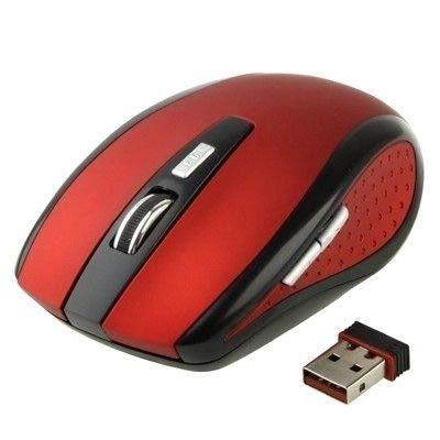 mouse wireless 2600 dpi Mouse Wireless Ottico 2.4 GHz 2600 Dpi Ricevitore USB Universale Plug & Play Rosso