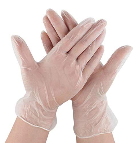 100 stuks PVC-handschoenen, wegwerphandschoenen, vaatwasser-/keuken-/tuinreinigingshandschoenen, voor linker- en rechterhandschoenen, 100 stuks