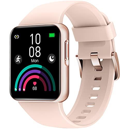 HolaDream Smartwatch, Reloj Inteligente Hombre Mujer, Impermeable 5ATM Pulsera Actividad con 10 Modos Deporte, Monitores de Actividad con Monitor de Oxígeno de Sangre, Pulsómetro, Monitor de Sueño