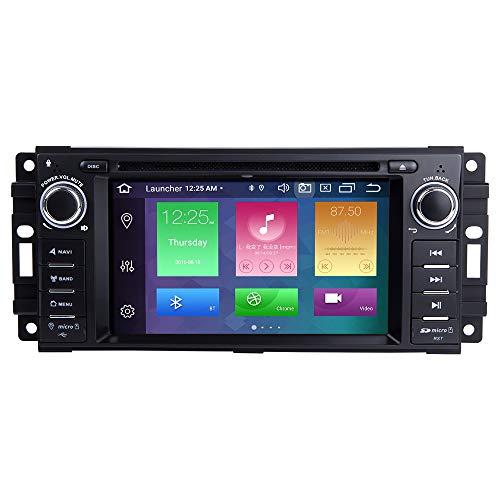 ZLTOOPAI Android 10 Octa Core 4G RAM 128G ROM Lettore Multimediale Dell'automobile per Dodge Ram Challenger Jeep Wrangler JK Singolo Din Unità di Testa Auto Stereo GPS Radio Lettore DVD