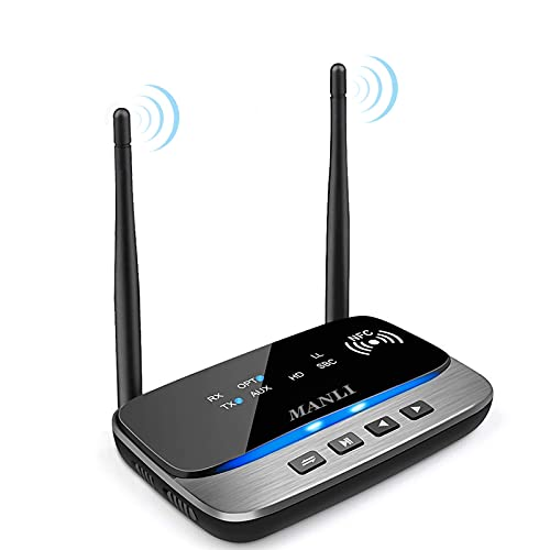 Bluetooth 5.0 Transmitter, MANLI 3 in 1 Bluetooth...