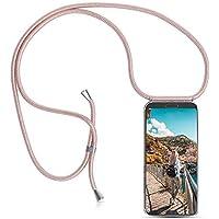 XCYYOO Carcasa de movil con Cuerda para Colgar Huawei Honor 8X【Versión Popular 2019】 Funda para iPhone/Samsung/Huawei con Correa Colgante para Llevar en el Cuello -Hecho a Mano en Berlin[Oro Rosa]