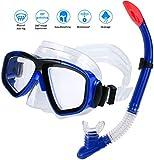 AIMTOP Set para Snorkeling Mascara e Tubo, Kit de máscara y Tubo para Snorkelling, Kit de Snorkeling, Set de Buceo Máscara de Buceo Snorkel Set, Unisex Adulto