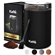 #LightningDeal Electric Blade Coffee Grinder by Kaffe - 3oz Capacity with Easy On/Off Button. Cleaning Brush Included. (6-8 Cups of Coffee!)
