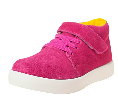 Little Blue Lamb Chaussures Hi Top Sneaker 7123 Daim Magenta Rose - Rose - magenta,