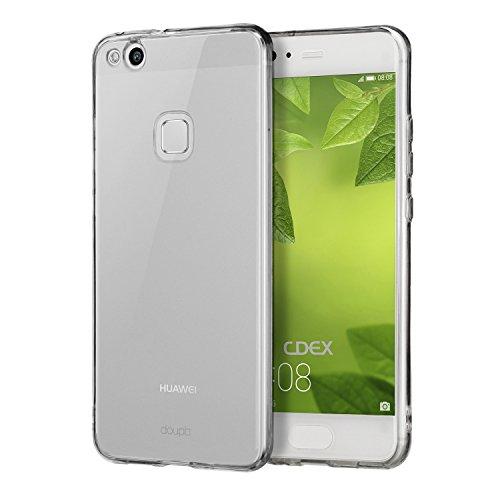 doupi PerfectFit Funda Compatible con Case Huawei P10 Lite, Protección Cover Silicio Protectora SolidColor, Transparente