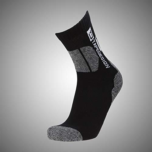 Tapedesign Outdoor Socken, Black/Grey, One Size