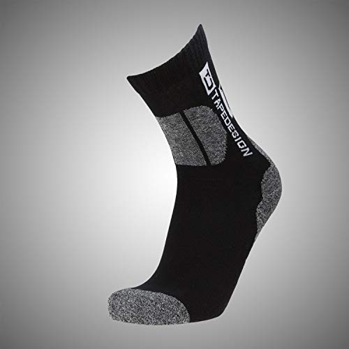 Tapedesign Outdoor Socken, Black/Grey, One Size