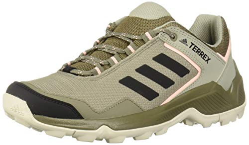 adidas outdoor Women's Terrex EASTRAIL Hiking Boot, Trace Cargo/Black/Clear Orange, 9 M US