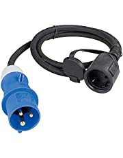 as-Schwabe 60488 przewód adapterowy 230 V / 16 A / 3-biegunowy, 1,5 m zestaw przewodów gumowych
