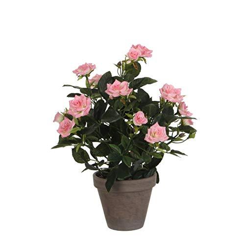 MICA Decorations Kunstpflanze, Polyester, Rosa, h33xd25cm
