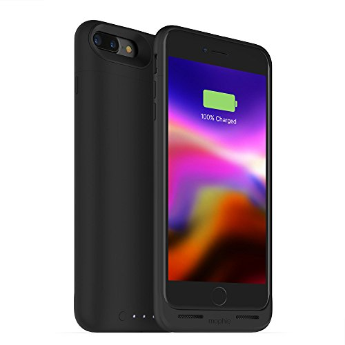 mophie 401001641 3679_JPA-IP7P-BLK Juice Pack Wireless - Charge Force Wireless Power - Wireless Charging Protective Battery Pack Case for iPhone 7 Plus and 8 Plus – Black