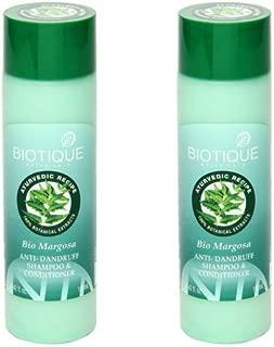 2 x Biotique Bio Margosa Anti-Dandruff Shampoo & Conditioner - 190 ml (Pack of 2)