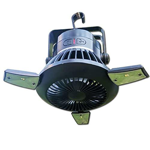 FUMENG Ventiladores de Camping portátiles Ventilador USB Recargable para Ventilador de Techo de Ventilador Solar de Tent para la Emergencia del Coche de la Tienda