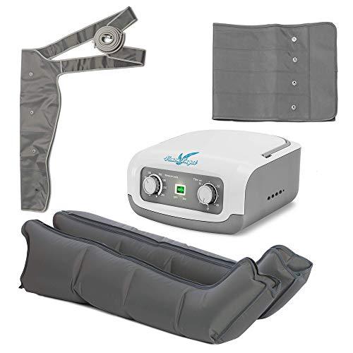 Venen Engel ® 4 Gleitwellen Massage-Gerät Komplett-Set (Bauch-, Arm- & Beinmanschetten), 4 Luftkammern, Druck & Zeit unkompliziert einstellbar