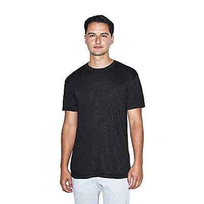 American Apparel Men's Tri-Blend Crewneck Short Sleeve Track T-Shirt, 2-Pack, tri-black, Large