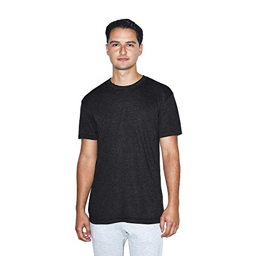 American Apparel Unisex-Erwachsene Blend Crewneck Short Sleeve Track, 2-Pack T-Shirt, Tri-Black, X-Groß