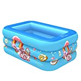 RWEAONT Summer Blow Up Pool for Family Adult Baby Kids Inflatable Piscina Piscina al Aire Libre Playa Pool Play Center Agua Juego (Color : 130cm)