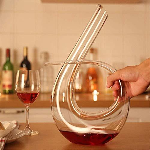 Decantador de vino de vino de cráneo y gafas Set ANTER VINO, 100% CRISTAL DE CRISTAL CRISTAL, ANTER / CARAFE DE VINO ROJO DE MANO MANO, DÍA DE FORMAJE DE FORMAJE, PARA LA NAVIDAD, CUMPLEAÑOS, DÍA DEL