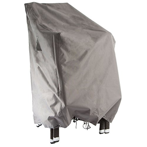 Ultranatura 200100000137 Gewebe-Schutzhülle Sylt für bis zu 6 Stapelstühle, Wetterschutzhülle Gartenstühle grau