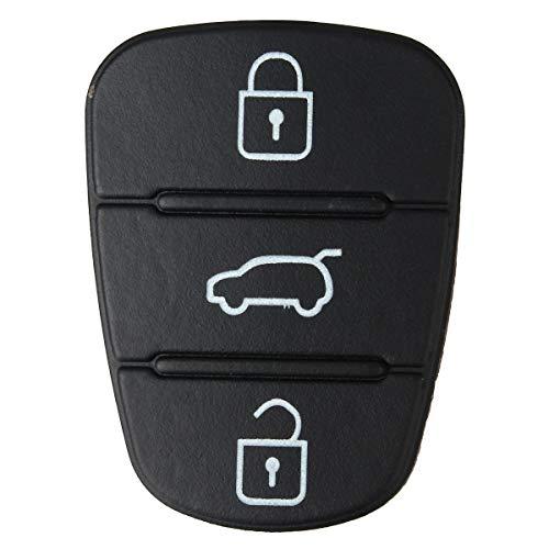 AutoE 2x 3 Button Remote Key Fob Case Rubber Pad For Hyundai I10 I20 I30 Flip Key Key Shell Case for Car