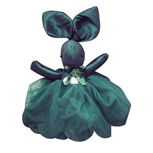 Y-M-H Llavero Creativo Conejo de Encaje Moda Mochila Muñeca Bolsa Linda Colgante 15 cm (Color : Green)